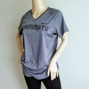 NIKE PRO DRI FIT V NECK TOP L